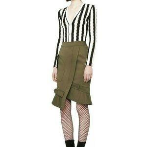 Alexander Wang Parka Asymmetric Pencil Skirt